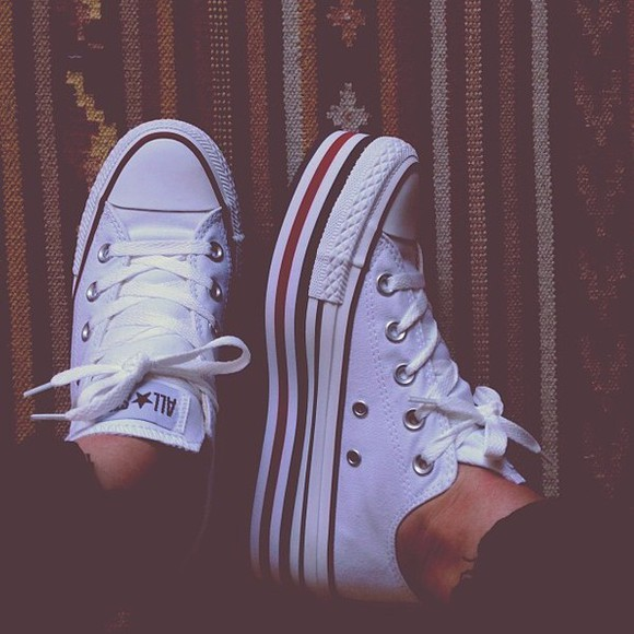 shoes converse platform converse white converse