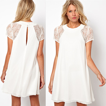 White is very popular color to wear during summer. White women's clothing made of cotton is highly advisable to invest during summer because it provides