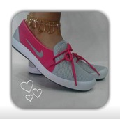 shoes,nike,womens loafers,tennis shoes,loafers,pink,nike shoes,nike pink and grey,nike loafers,nike gray