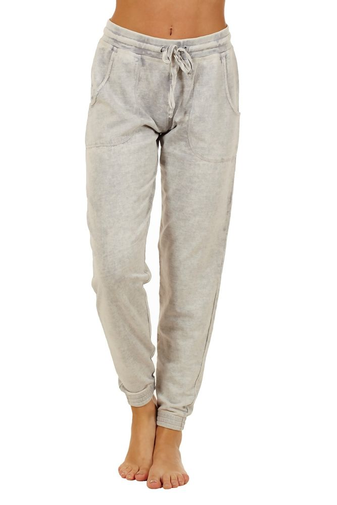 4119 comfy relaxed fit athletic women drawstring sweat pants jogging workout