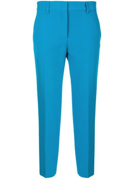 MSGM women spandex blue pants