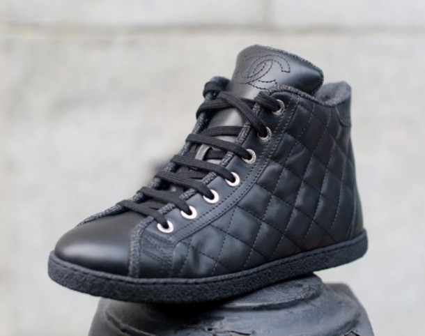 shoes, sneakers, quilted, high tops