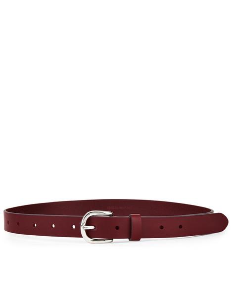 Isabel Marant etoile belt leather burgundy