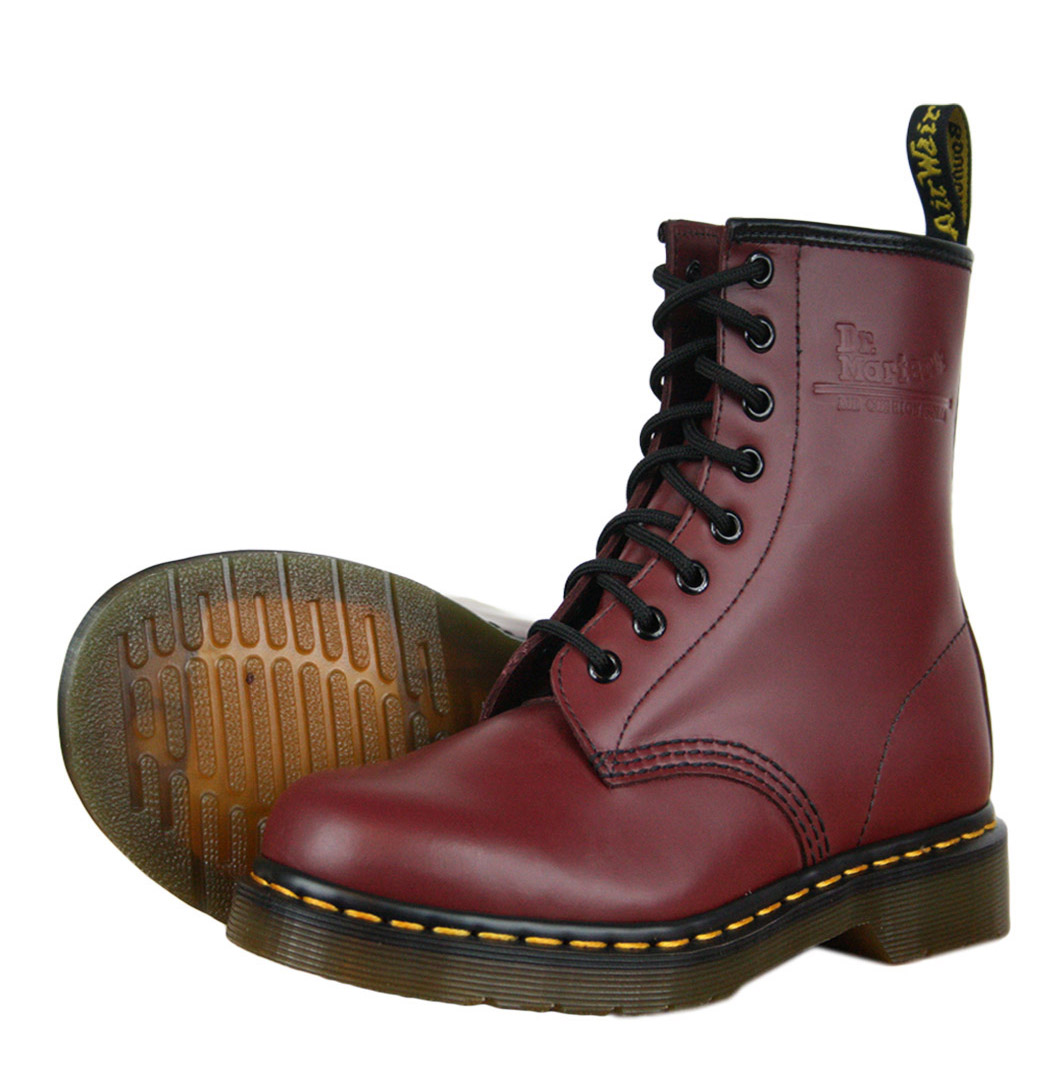 dr martens 1460 11822600 womens boots aw12 cherry red smooth ebay. Black Bedroom Furniture Sets. Home Design Ideas