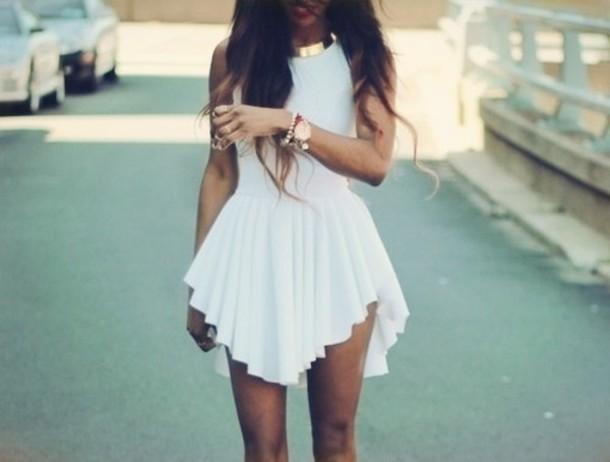 Dress White Gold White And Gold Dress High Low Dress Pretty Cute Pretty Little Liars