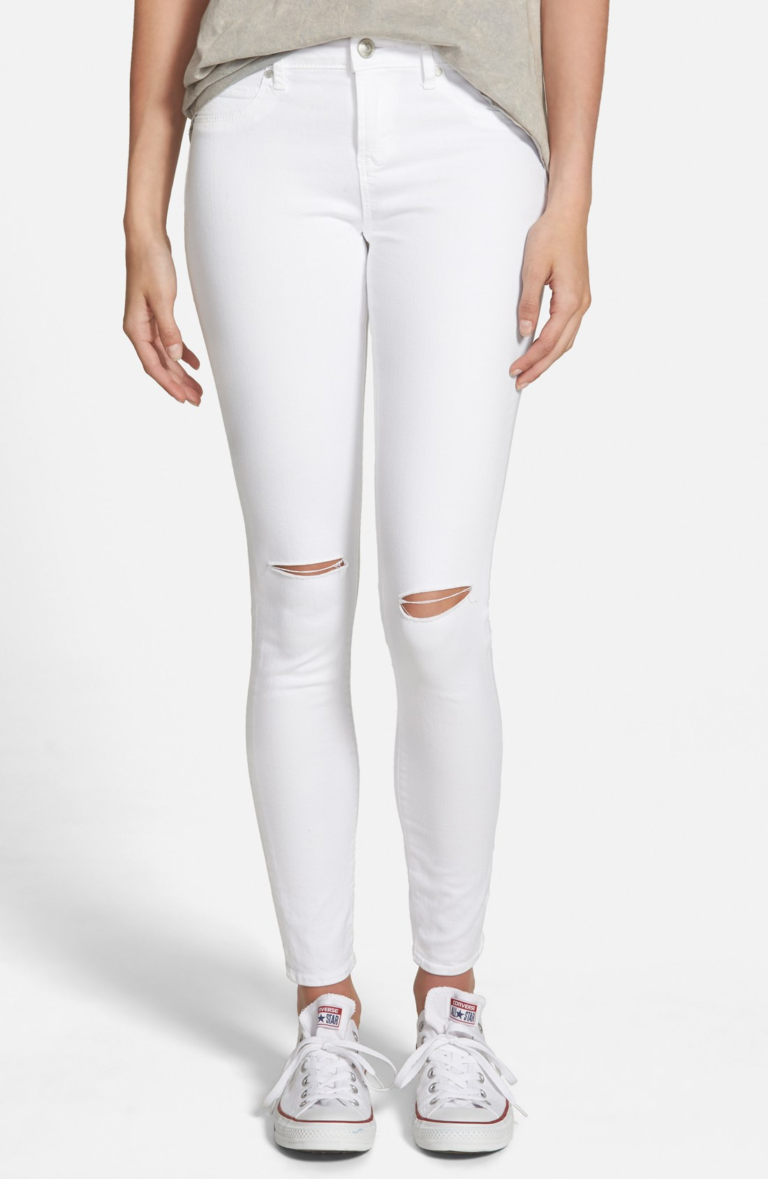 7ba2899acec1 Articles of Society  Sarah  Distressed Skinny Jeans (Whiteout ...