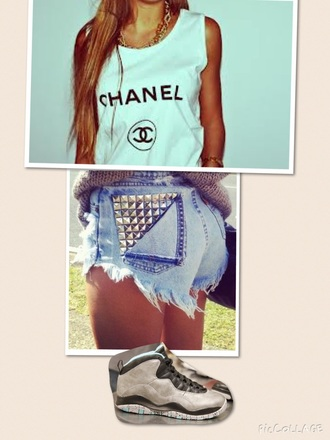 top chanel shorts jordans summer spring cute shoes
