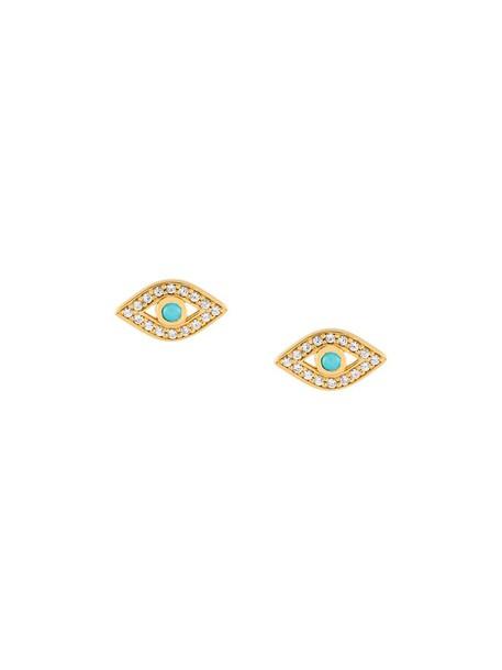mini women earrings stud earrings gold grey metallic jewels