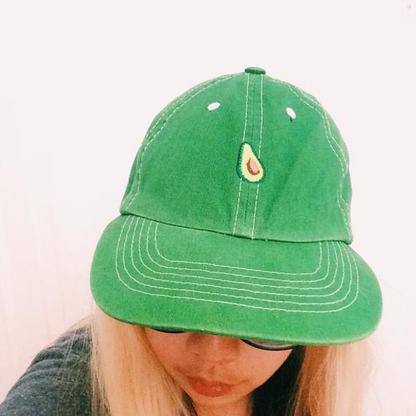 hat girly green tumblr cap avocado