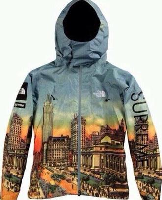 jacket windbreaker printed jacket coat crazy north face