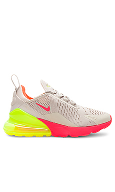 Nike Air Max 270 Sneaker in Desert Sand, Hot Punch, Volt