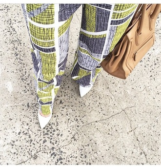 shoes high heels pants bag purse heels accessories handbag printed pants