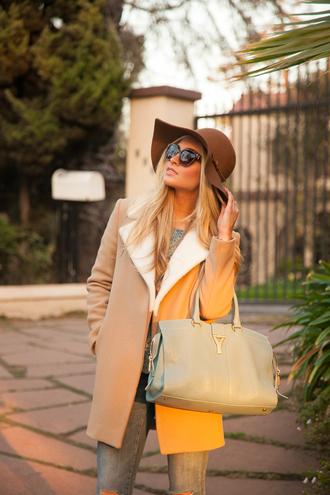 angel food coat sweater jeans shoes jewels bag sunglasses hat