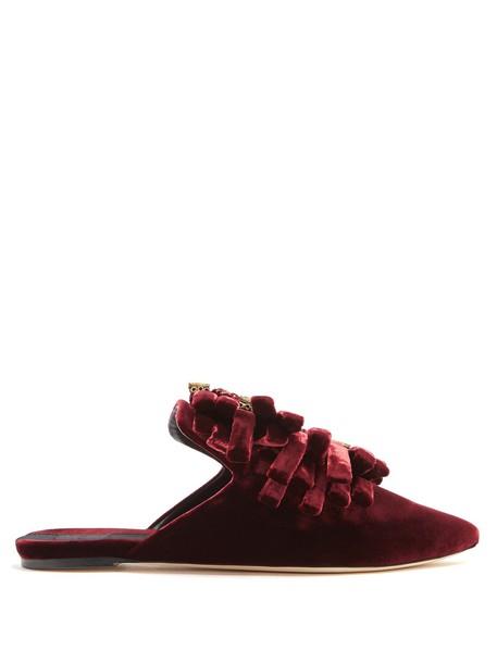 SANAYI 313 shoes velvet burgundy