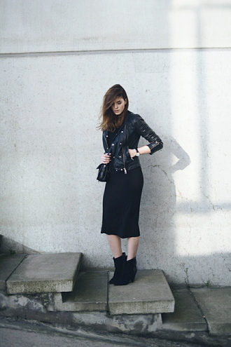 moderosa blogger jacket dress shoes bag