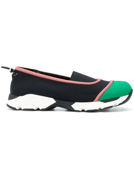 MARNI women spandex sneakers leather black neoprene shoes