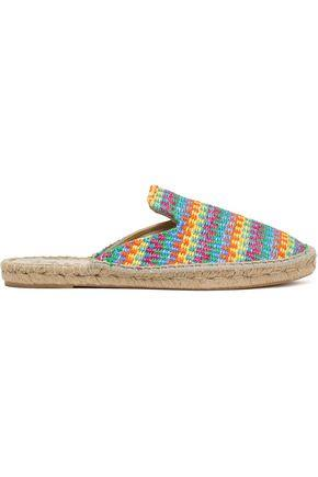 Manebí Woman Woven Raffia Espadrille Slippers Multicolor Size 38