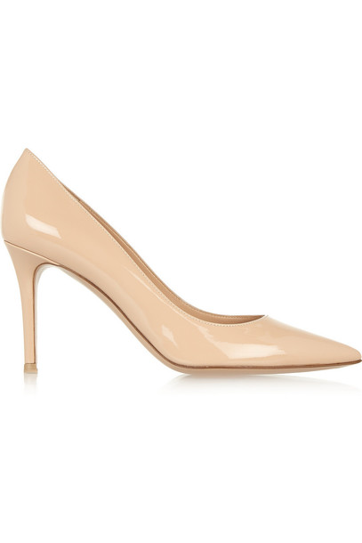 Gianvito Rossi pumps leather beige shoes