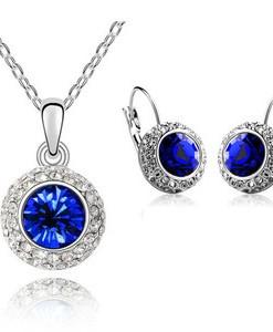 Austrian Crystal Light Violet Heart Shaped Rhinestone Drop Dangle Earrings E265 | Amazing Shoes UK