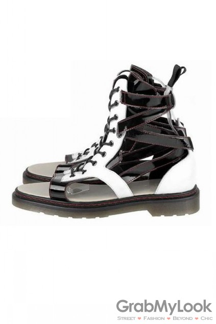 Patent Leather Military Boot High Top Mens Roman Gladiator Sandals Shoes Patent Leather Military Boot High Top Mens Roman Gladiator Sandals Shoes [HM-SAN-MARTN] - $99.99 : GrabMyLook, Trendy Street High Fashion Shop for Womens and Mens Clothings - Free Shipping & Returns