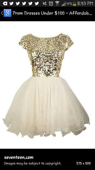 prom dress gold sequins tulle skirt homecoming dress evening gown
