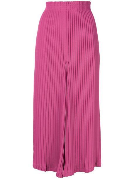 pants palazzo pants pleated women purple pink