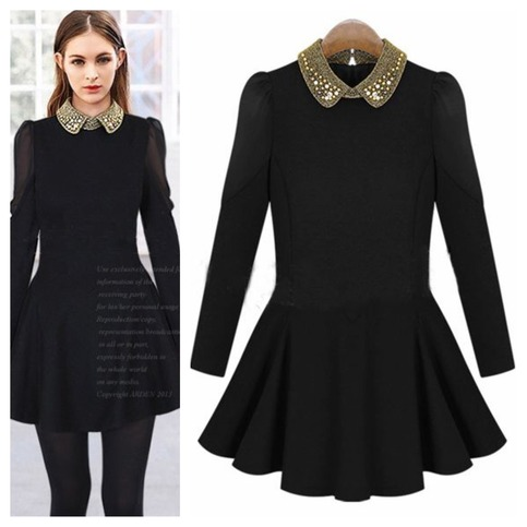 Gorgeous beaded collar long sleeve dress · doublelw · online store powered by storenvy