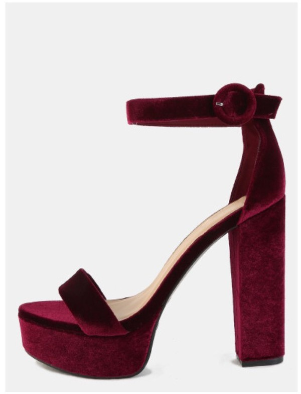 Shoes: girl, girly, girly wishlist, burgundy, velvet, velvet shoes ...