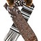 Pierre-louis mascia 'fancy' scarf, women's, brown, silk/orilag fur