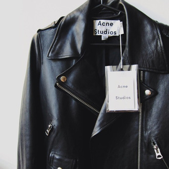 jacket cuir perfecto acne studios