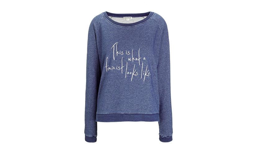 Feminist logo sweatshirt