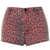 MOTO Red Leopard Print Hotpants