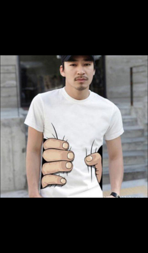 shirt black funny shirt t-shirt white korea funny big hand 3d t-shirt round neck cotton short sleeve t-shirt