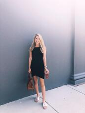 krystal schlegel,leggings,jewels,chanel shoes,dress,black dress,slide shoes,bag