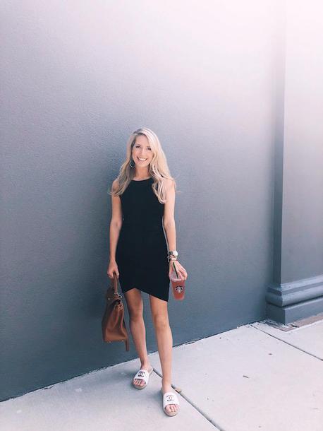 krystal schlegel leggings jewels chanel shoes dress black dress slide shoes bag
