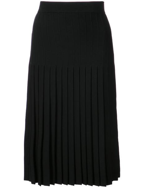 Jonathan Simkhai skirt midi skirt pleated women midi spandex black