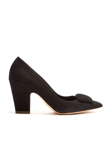 Rupert Sanderson suede pumps pumps suede black shoes