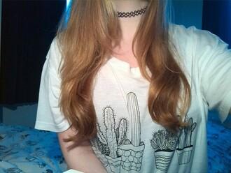 shirt cactus white black print t-shirt awesomness cacti hipster