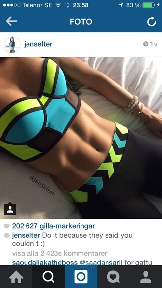 leggings jenslter blue yellow black leggings gym