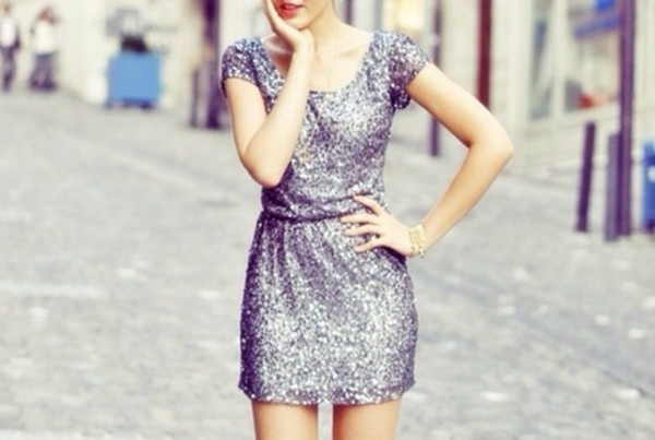 dress sparkly dress silver