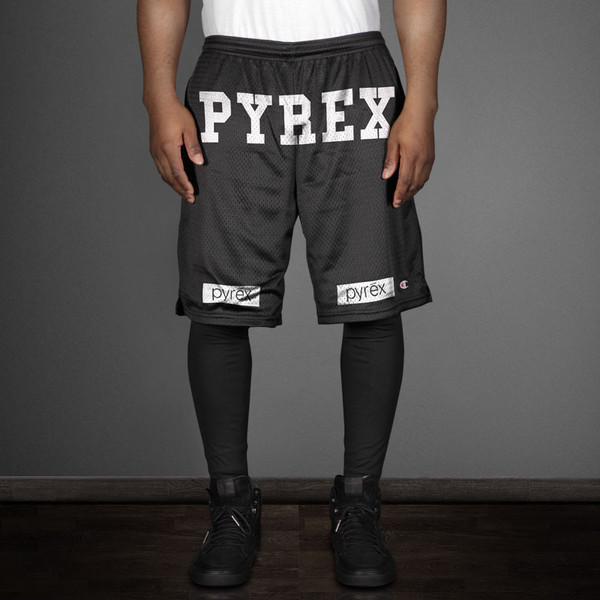 shorts pyrex pyrex kanye west black black shorts