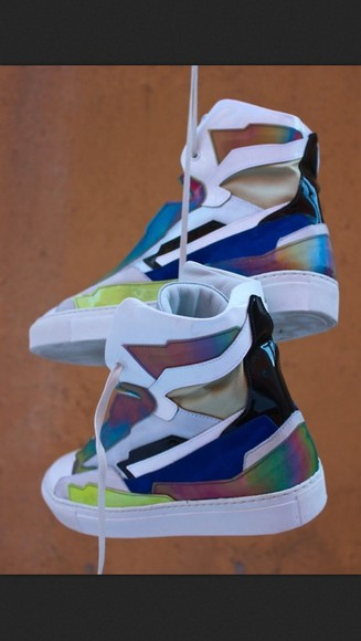 shoes high top sneaker white colorful