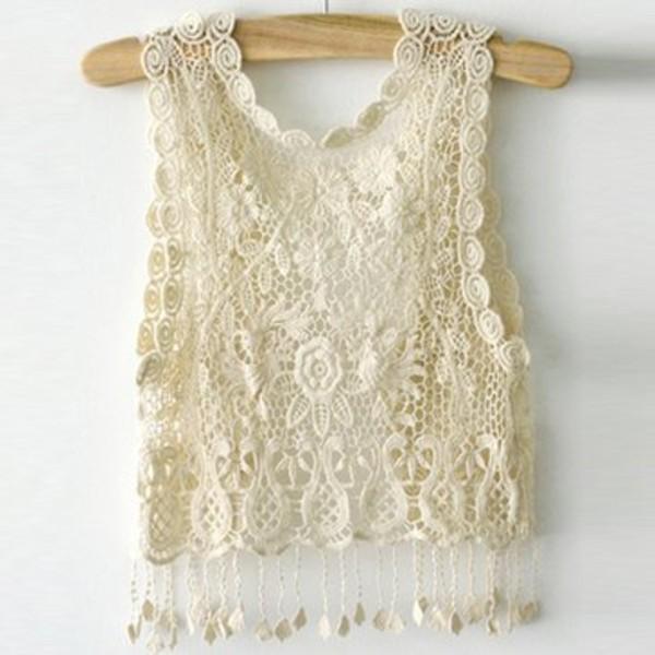 shirt vest lace