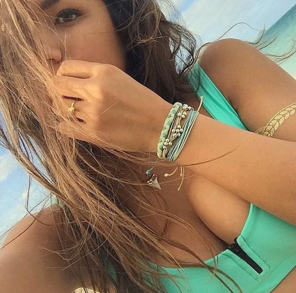 swimwear green swimwear zipper bikini