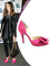 Sarah jessica parker heels pink satin peep toe knot bow detail red bottom stiletto high covered 100 mm heels sandals