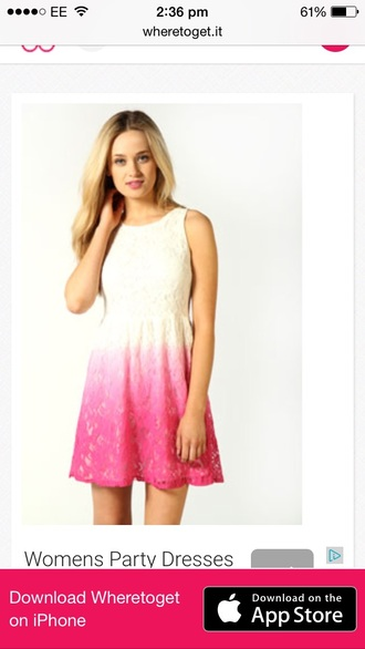 dress pink and white