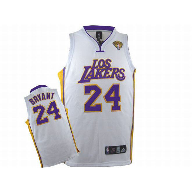 Kobe Bryant #24 White Los Lakers Jersey Purple Yellow Number