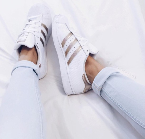 adidas superstars rosa gold