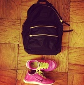 bag,backpack,zip,black,marc by marc jacobs,shoes