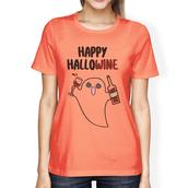 t-shirt,ghost,wine,peach shirt,graphic tees women,funny shirt,halloween shirt,halloween costume